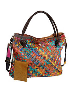 Rainbow Weaver Tote Bag by AmeriLeather