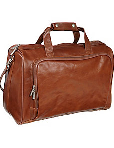 18-inch Leather Carry on Weekend Duffel by AmeriLeather