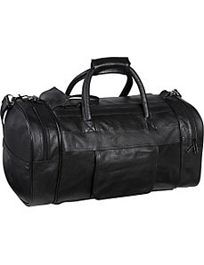 Leather Dual Zippered Duffel by AmeriLeather