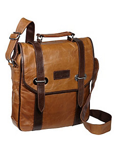 Granger Two-tone Messenger Bag by AmeriLeather