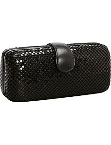 Metal Mesh Long Box Clutch by Magid