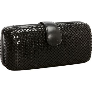 Metal Mesh Long Box Clutch