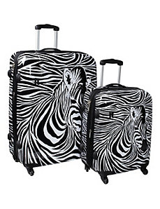 Zebra Head 2 Piece Exp. Spinner Set by IT Luggage