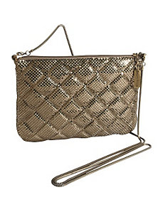 Quilted Mesh Crossbody by Whiting and Davis