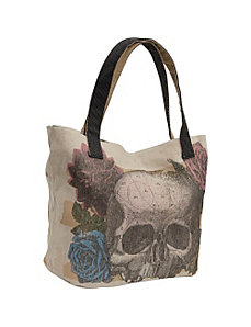 Skull Flower Tote by Loungefly