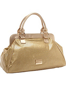 Don't Mesh With Me Gold Satchel by Vizzini Inc.