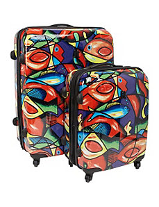 Painted Fish 2 Piece Hardside Spinner Set by IT Luggage