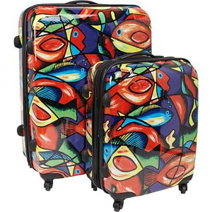 Painted Fish 2 Piece Hardside Spinner Set