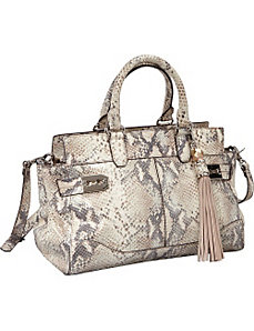 Roopal Metallic Python Medium Satchel by Rafe New York