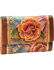 Ladies Three Fold Wallet - Python Bloom by Anuschka