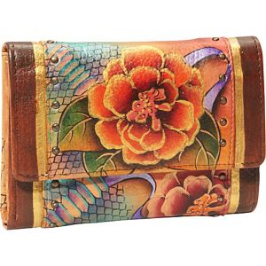 Ladies Three Fold Wallet - Python Bloom