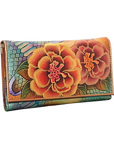 Check Book Wallet/Clutch - Patchwork Garden by Anuschka