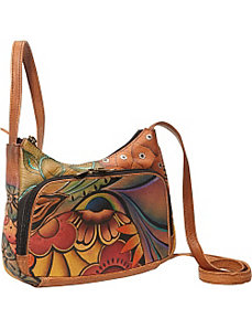 Compact Crossbody Travel Organizer - Patchwork Gar by Anuschka