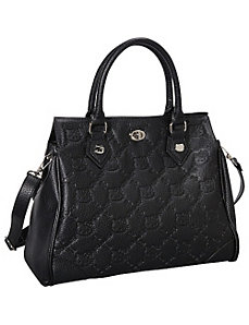 Hello Kitty Black Faux Leather Satchel by Loungefly