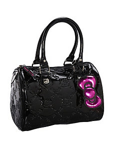 Hello Kitty Mini Black Embossed City Bag by Loungefly