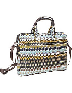 African Dots Laptop Satchel by Echo