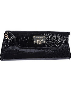 Croco Luxe Clutch by AK Anne Klein