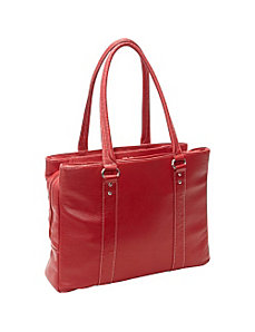Soho Triple Zip Leather Laptop Tote by eBags Laptop Collection