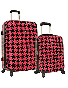 Houndstooth 2-Piece Hardside Expandable Luggage Se by Traveler's Choice