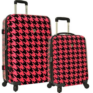 Houndstooth 2-Piece Hardside Expandable Luggage Se