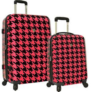 Houndstooth 2-Piece Hardside Expandable Luggage Se