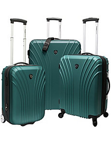 3-Piece Hardside Ultra Lightweight Luggage Set (In by Traveler's Choice