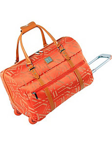"Modern Tile 20"" Wheeled City Bag by Diane Von Furstenberg"