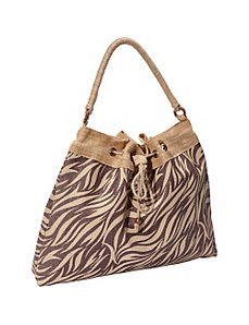 Jute Drawstring Tote Bag by Earth Axxessories