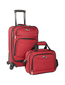 Fashion 2 Piece Carry-on Spinner Set by U.S. Traveler