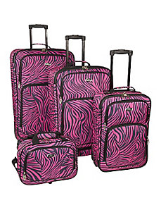 Fashion Zebra 4 Piece Spinner Set by U.S. Traveler