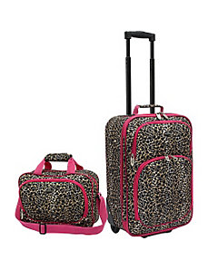 Fashion Leopard 2 Piece Spinner Luggage Set by U.S. Traveler