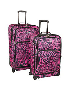 Fashion Zebra 2 Piece Spinner Set by U.S. Traveler