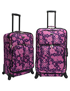 Purple Bubbles 2-Piece Spinner Set by U.S. Traveler