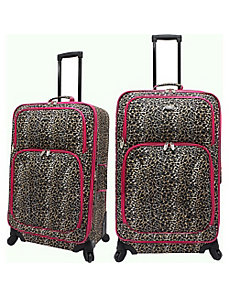 Leopard 2 Piece Carry-On Luggage Set by U.S. Traveler