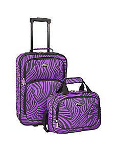 Fashion Zebra 2 Piece Carry-On Luggage Set by U.S. Traveler