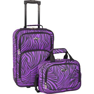 Fashion Zebra 2 Piece Carry-On Luggage Set
