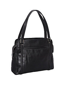 Top Zip Shoulder Bag by Derek Alexander