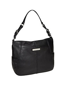 Key Item Leather Hobo by Calvin Klein