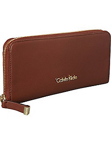 Zip Continental Wallet by Calvin Klein