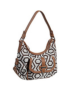 Hexagon 9s Jacquard Small Hobo by Nine West Handbags