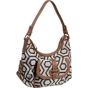 Hexagon 9s Jacquard Small Hobo