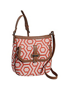 Hexagon 9s Jacquard Medium Crossbody by Nine West Handbags