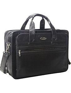 Expandable Leather Top-Zip Laptop Bag by Samsonite Business Cases