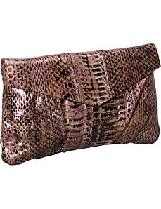 Yasmine Snakeskin Clutch by Inge Christopher
