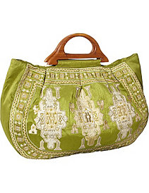 Large Tote w/ Embroidery by Moyna Handbags