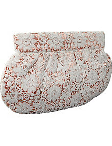 Clutch w/ Lace Overlay by Moyna Handbags