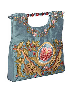 Tote Square Silk Flower by Moyna Handbags
