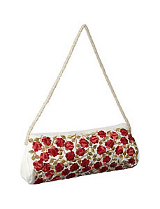 Purse w/ Silk Roses by Moyna Handbags