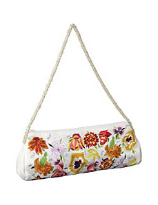 Purse w/ Silk Multi Flowers by Moyna Handbags