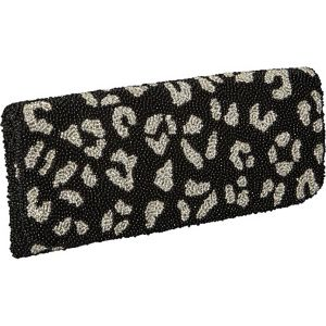 Beaded Evening Clutch Leopard Print